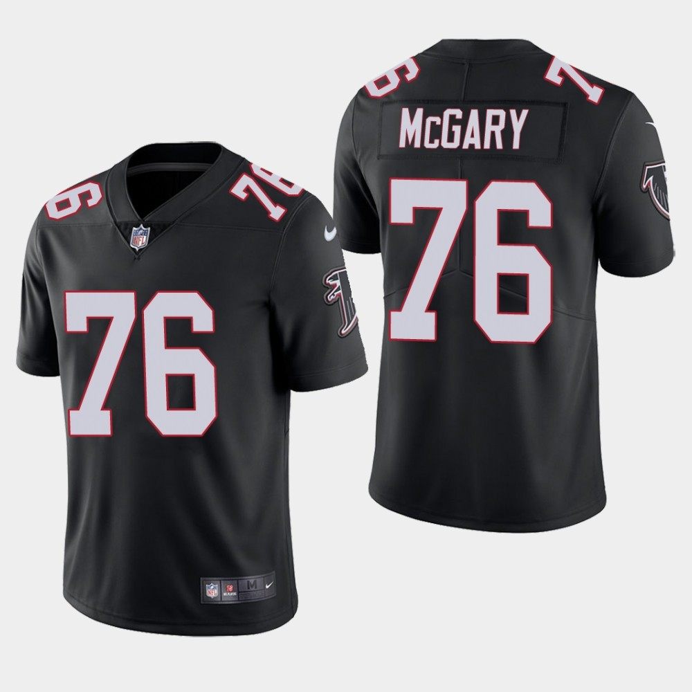 Nike Falcons 76 Kaleb McGary Black Youth 2019 NFL Draft First Round Pick Vapor Untouchable Limited Jersey