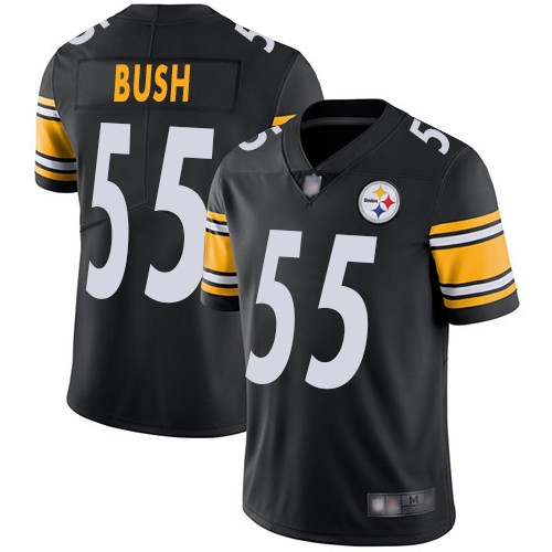 Nike Steelers 55 Devin Bush Black Youth 2019 NFL Draft First Round Pick Vapor Untouchable Limited Jersey