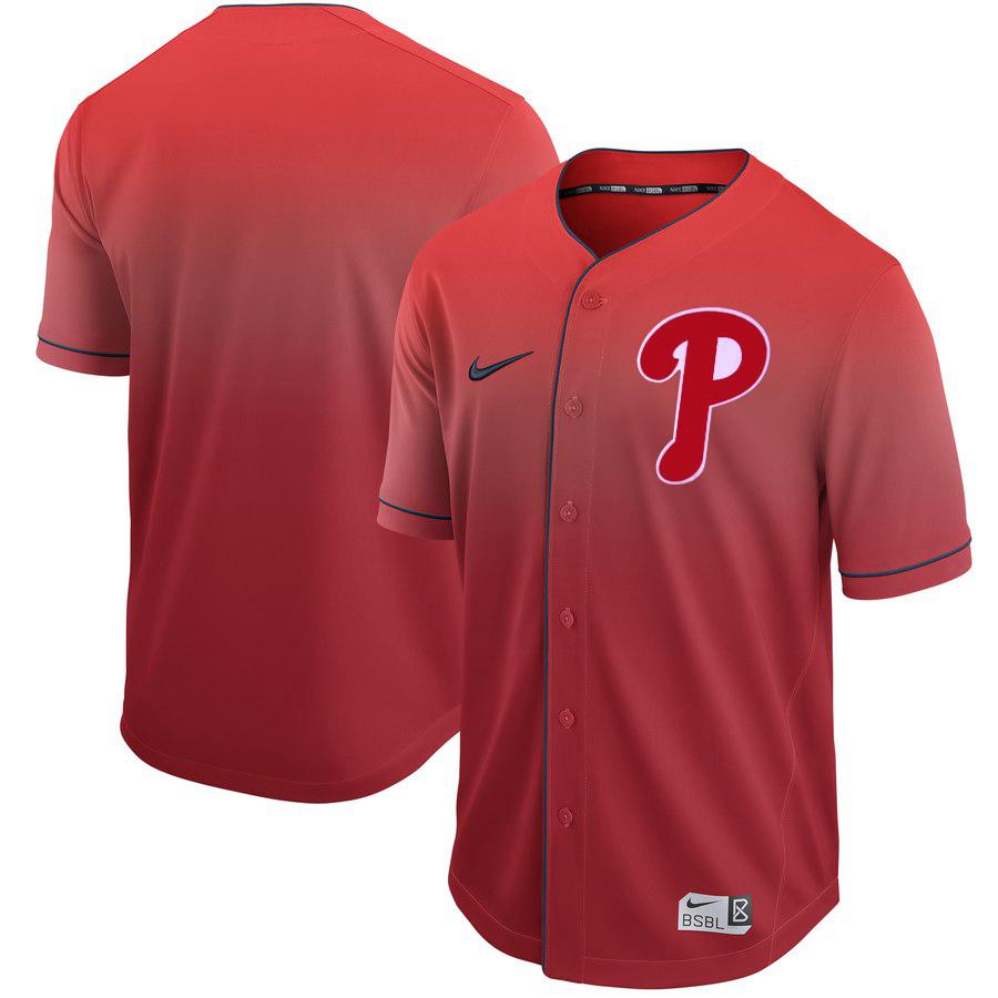 Phillies Blank Red Drift Fashion Jersey