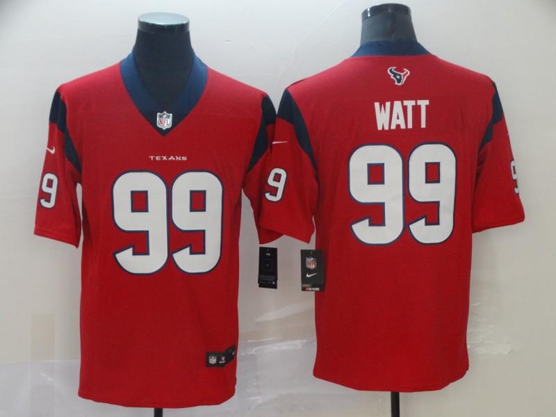Nike Texans 99 J.J. Watt Red New 2019 Vapor Untouchable Limited Jersey