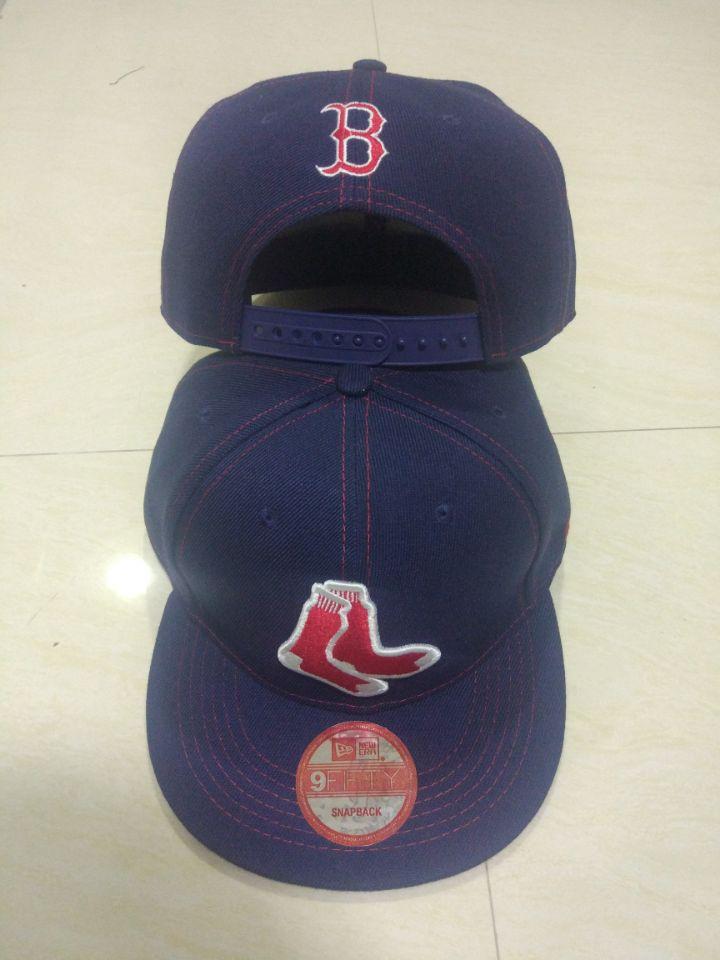 Red Sox Team Logo Navy Adjustable Hat LT