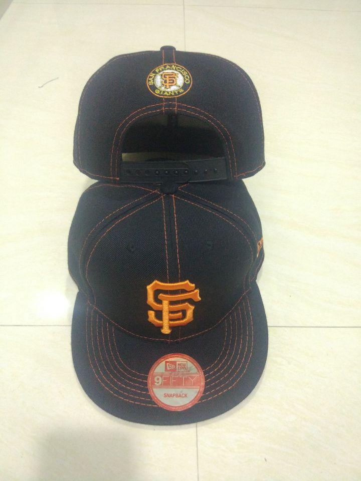 San Francisco Giants Team Logo Black Adjustable Hat LT