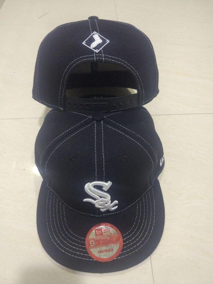 White Sox Team Logo Black Adjustable Hat LT
