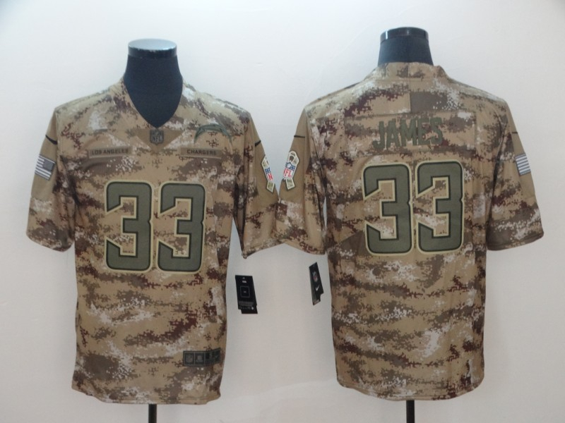 Nike Chargers 33 Derwin James Camo Salute To Service Limited Jersey