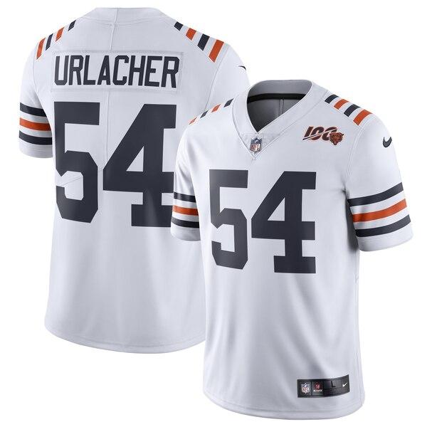 Nike Bears 54 Brian Urlacher White 2019 100th Season Alternate Classic Retired Vapor Untouchable Limited Jersey