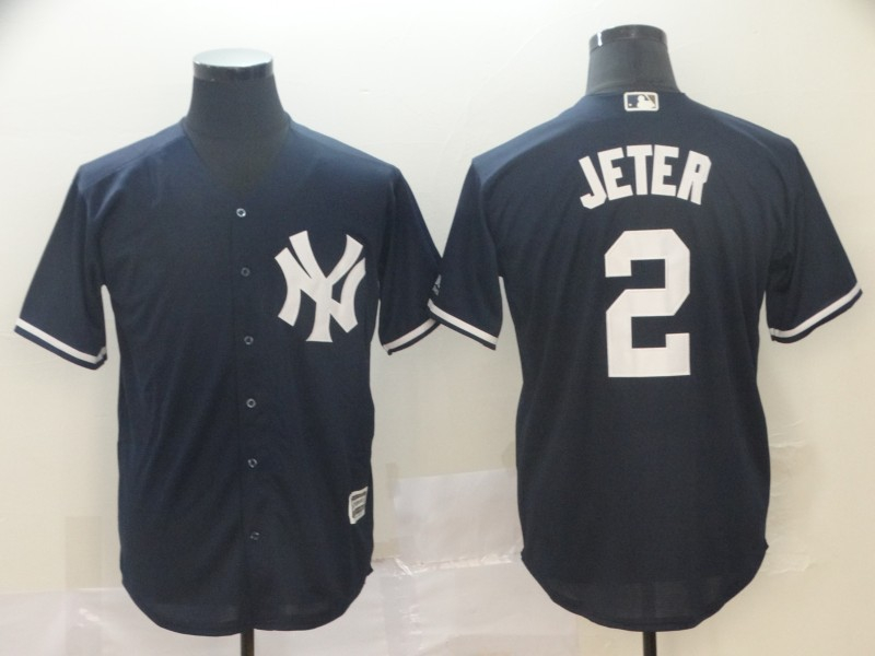 Yankees 2 Derek Jeter Navy Cool Base Jersey