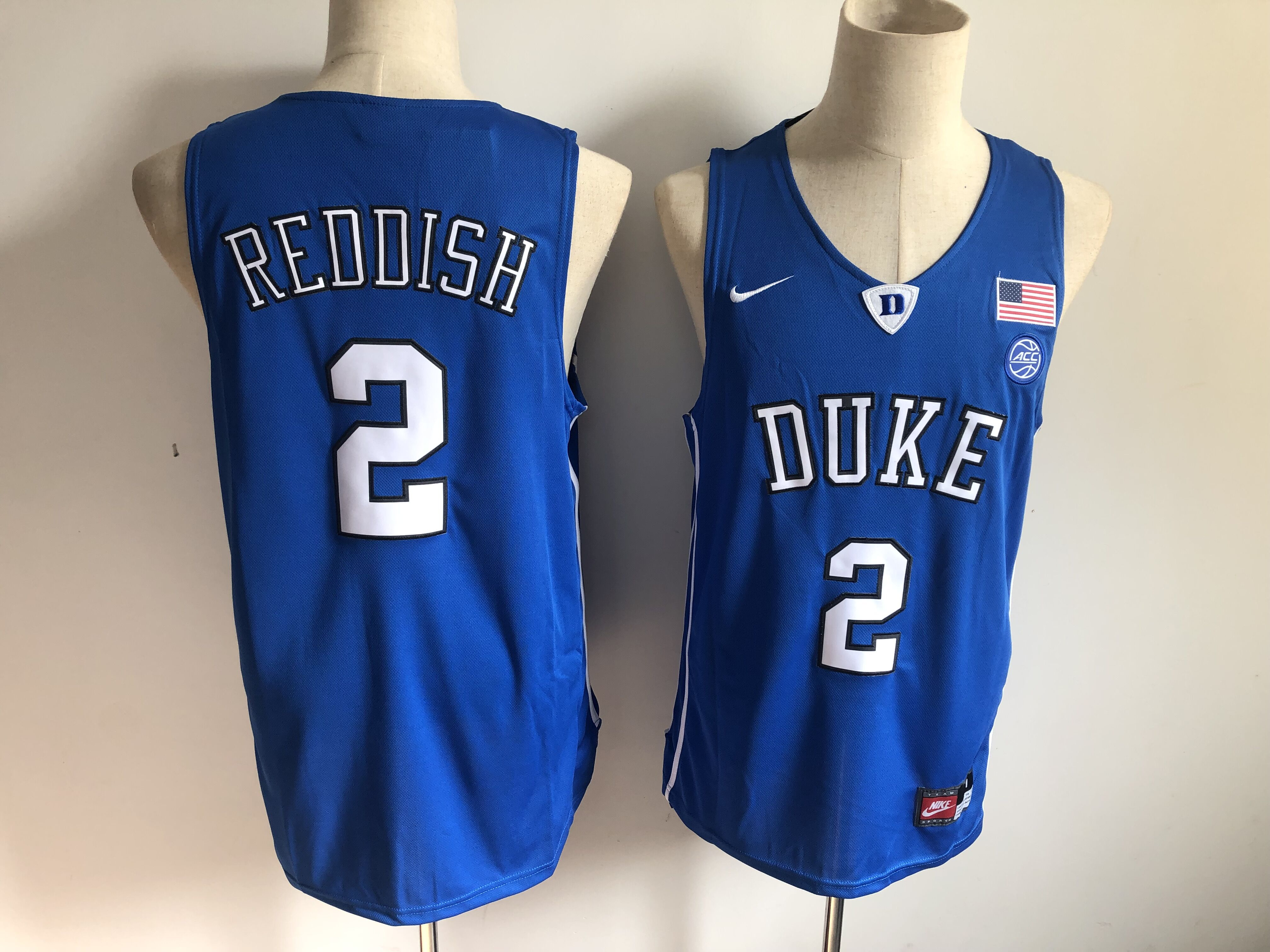 Duke Blue Devils 2 Cam Reddish Blue Nike College Basketball Jersey