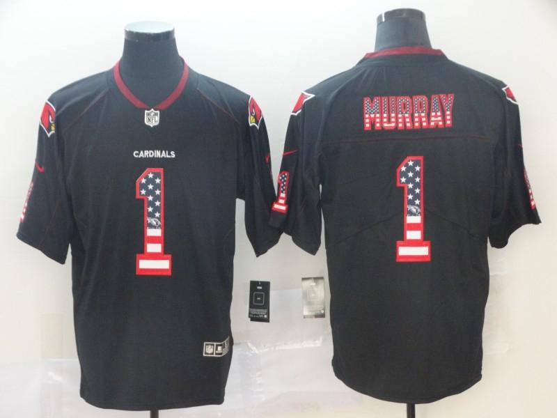 Nike Cardinals 1 Kyler Murray Black USA Flag Fashion Limited Jersey