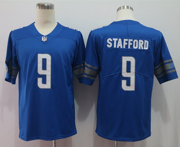 Nike Lions 9 Matthew Stafford Blue Vapor Untouchable Limited Jersey