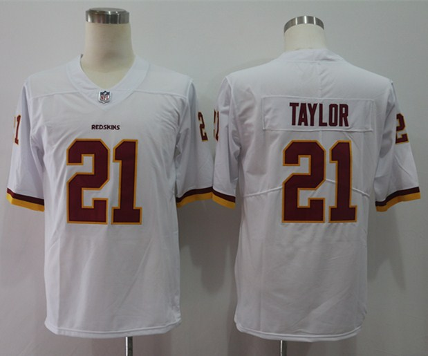 Nike Redskins 21 Sean Taylor White Vapor Untouchable Player Limited Jersey