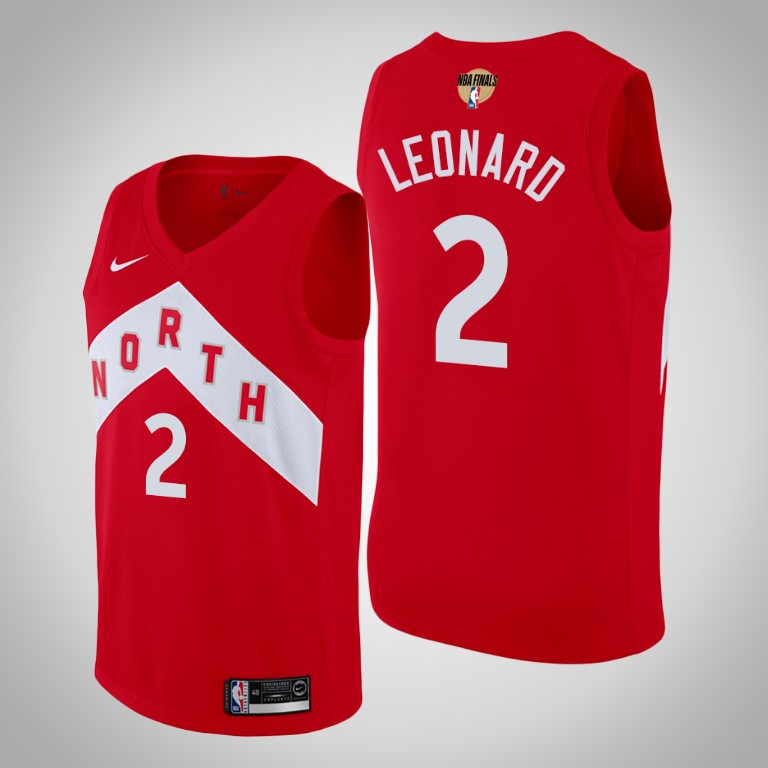 Raptors 2 Kawhi Leonard Red 2019 NBA Finals Nike Swingman Jersey