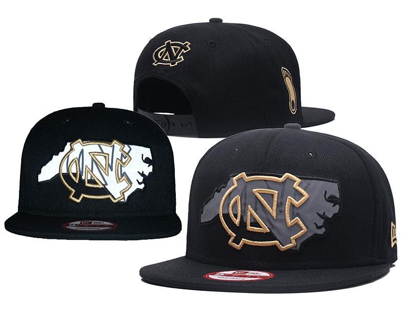 North Carolina Tar Heels Team Logo Black Adjustable Hat GS
