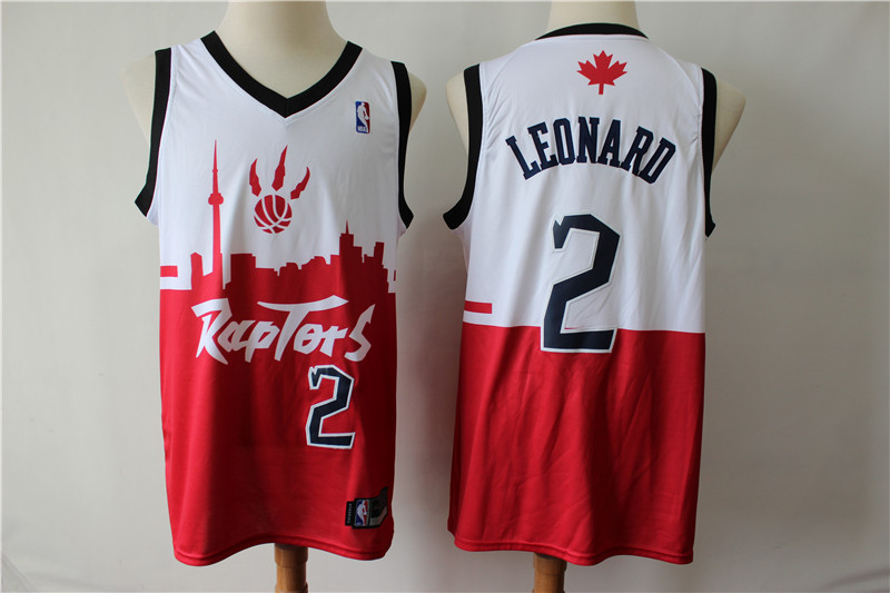 Raptors 2 Kawhi Leonard White Red 2019 City DNA Swingman Jersey