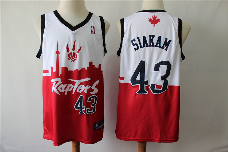 Raptors 43 Pascal Siakam White Red 2019 City DNA Swingman Jersey