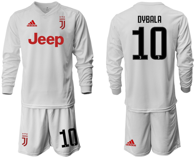 2019-20 Juventus 10 DYBALA Long Sleeve Away Soccer Jersey