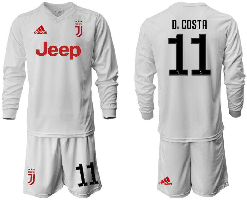 2019-20 Juventus 11 D. COSTA Long Sleeve Away Soccer Jersey