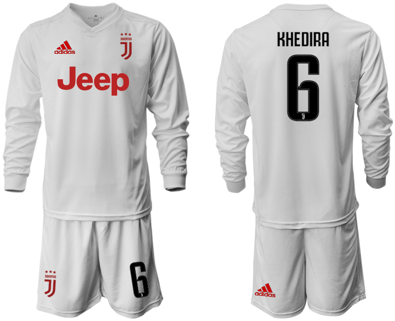 2019-20 Juventus 6 KHEDIRA Long Sleeve Away Soccer Jersey