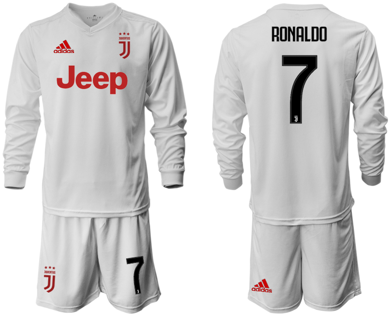 2019-20 Juventus 7 RONALDO Long Sleeve Away Soccer Jersey