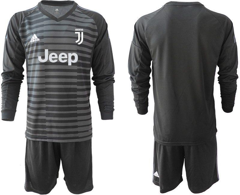 2019-20 Juventus Black Long Sleeve Goalkeeper Soccer Jersey