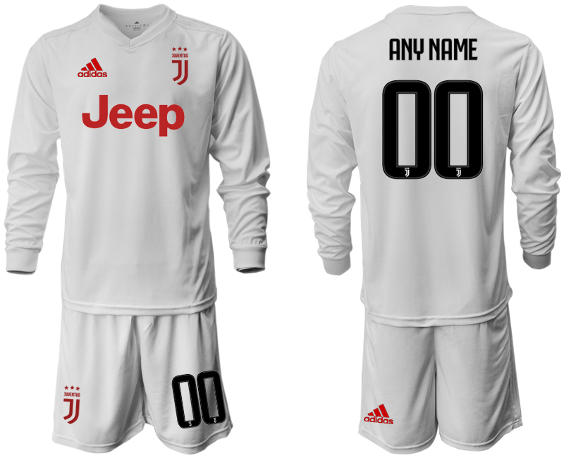 2019-20 Juventus Customized Long Sleeve Away Soccer Jersey