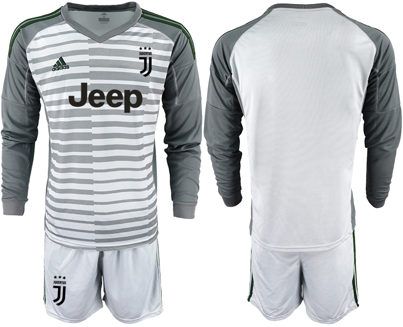 2019-20 Juventus Gray Long Sleeve Goalkeeper Soccer Jersey