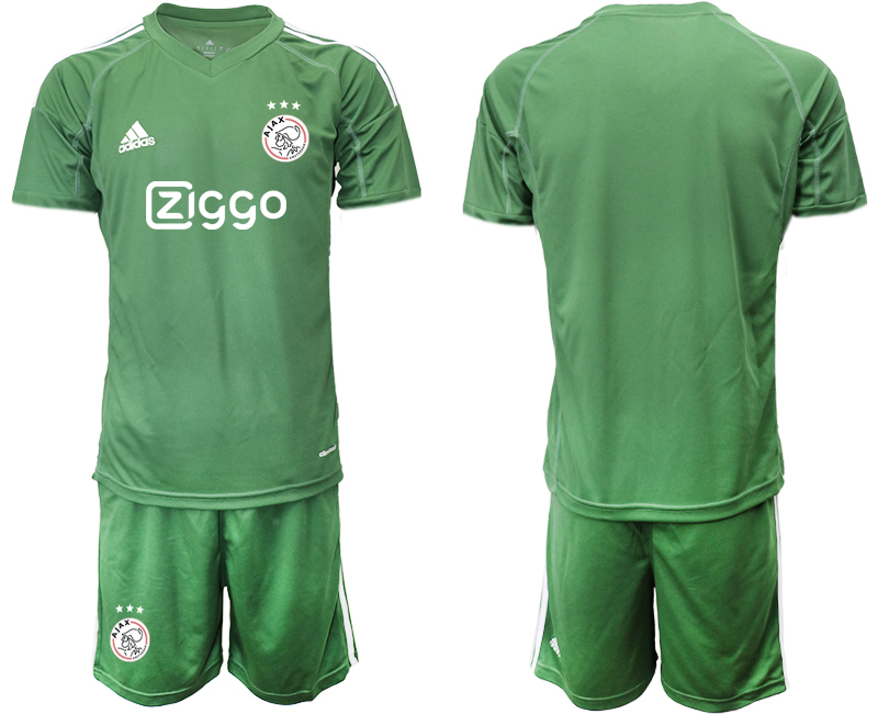 2019-20 Ajax Army Green Goalkeepe Soccer Jersey