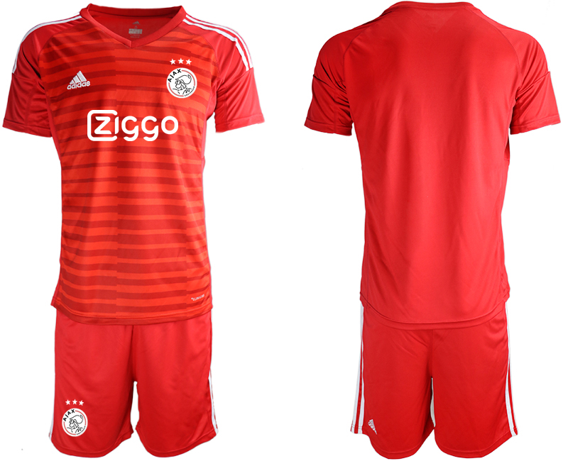 2019-20 Ajax Red Goalkeepe Soccer Jersey