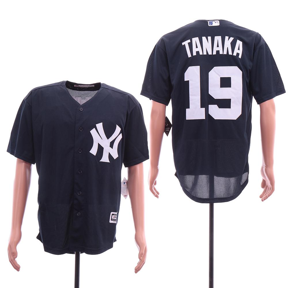 Yankees 19 Masahiro Tanaka Navy Cool Base Jersey