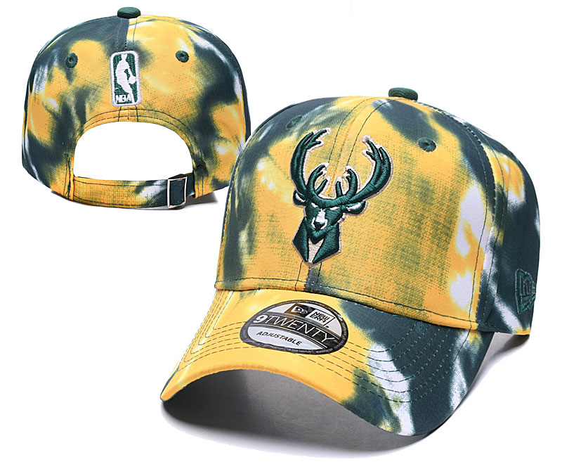 Bucks Team Logo Yellow Peaked Adjustable Fashion Hat YD