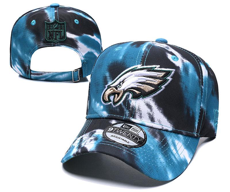 Eagles Team Logo Blue Black Peaked Adjustable Fashion Hat YD