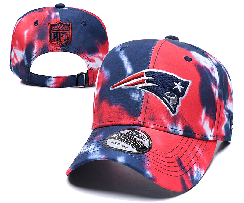Patriots Team Logo Red Navy Peaked Adjustable Fashion Hat YD