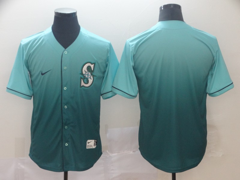 Mariners Blank Green Drift Fashion Jersey