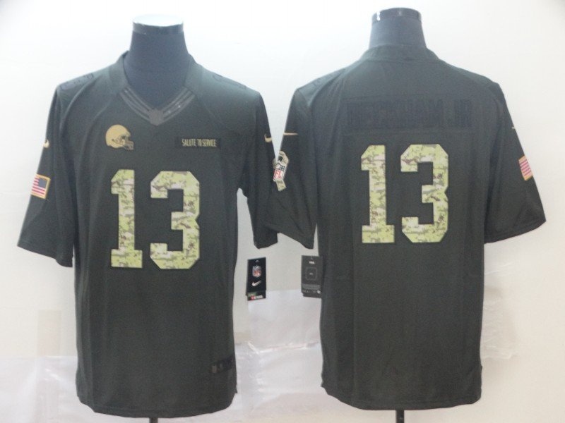 Nike Raiders 13 Odell Beckham Jr Black Camo Salute to Service Limited Jersey
