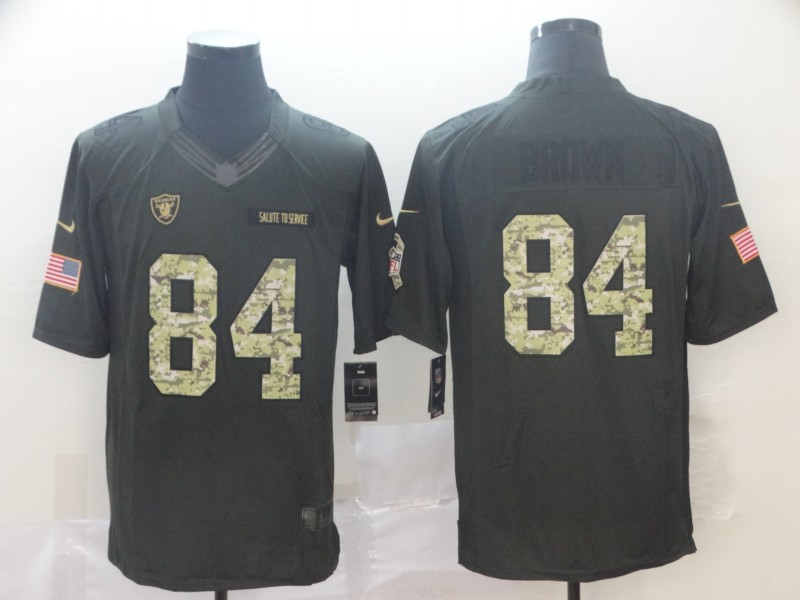 Nike Raiders 84 Antonio Brown Black Camo Salute to Service Limited Jersey