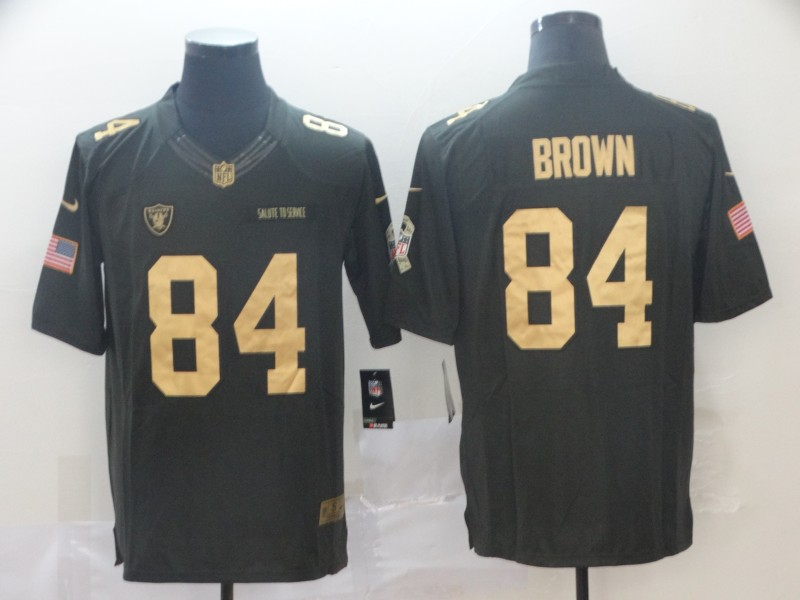 Nike Raiders 84 Antonio Brown Black Salute to Service Limited Jersey