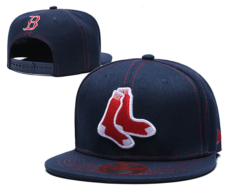 Red Sox Team Logo Navy Adjustable Hat LT