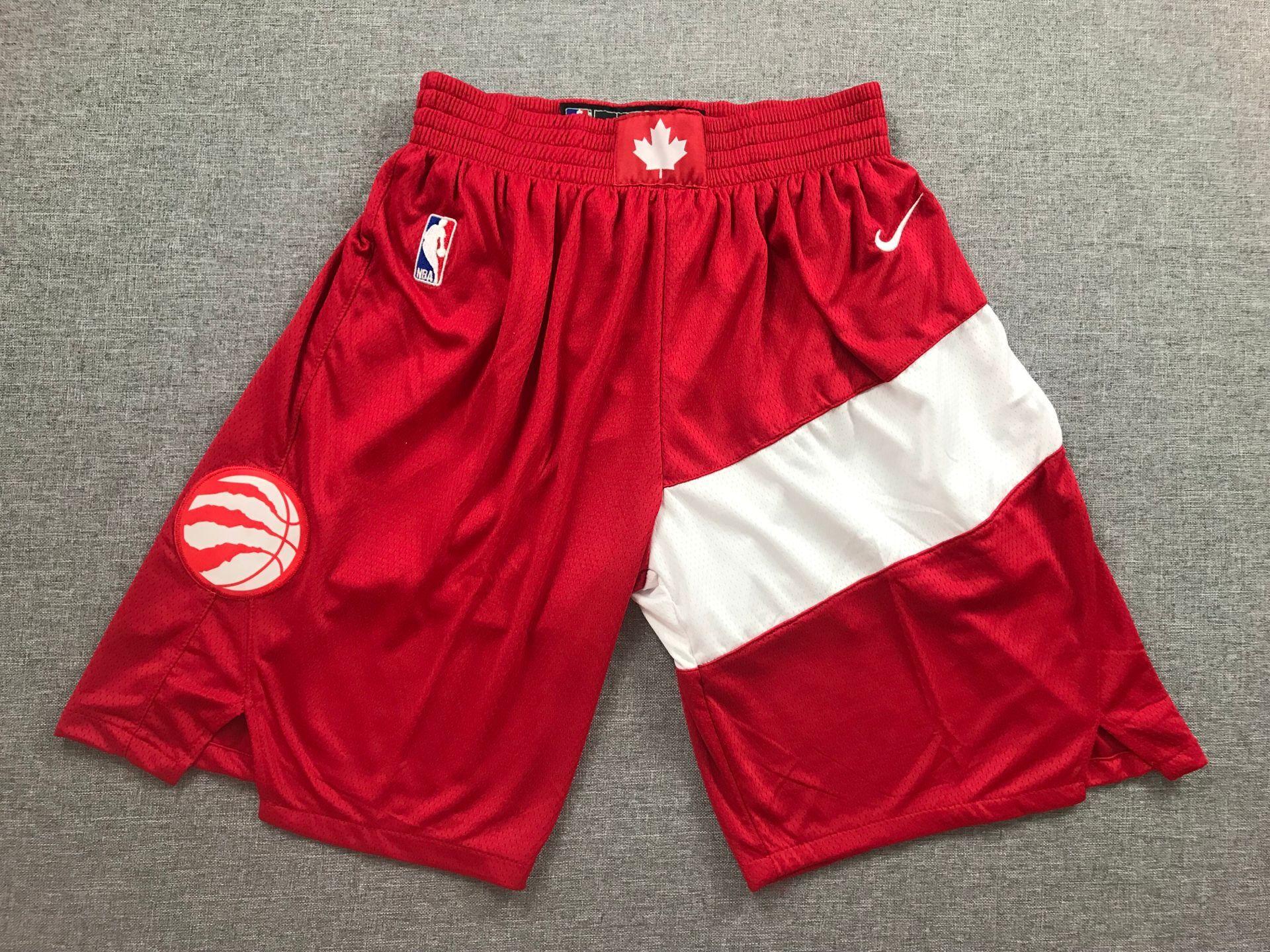 Raptors Red Earned Edition Nike Swingman Shorts