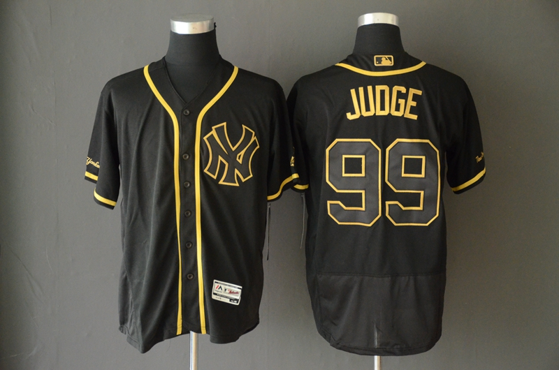 Yankees 99 Aaron Judge Black Gold Flexbase Jersey