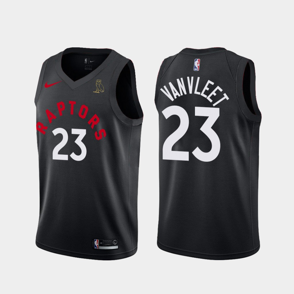 Raptors 23 Fred Vanvleet Black X Ovo Nike Swingman Jersey