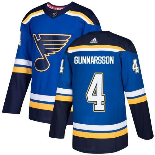 Blues 4 Carl Gunnarsson Blue Adidas Jersey