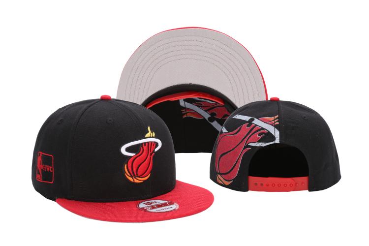 Heat Team Logo Black Red Adjustable Hat LH