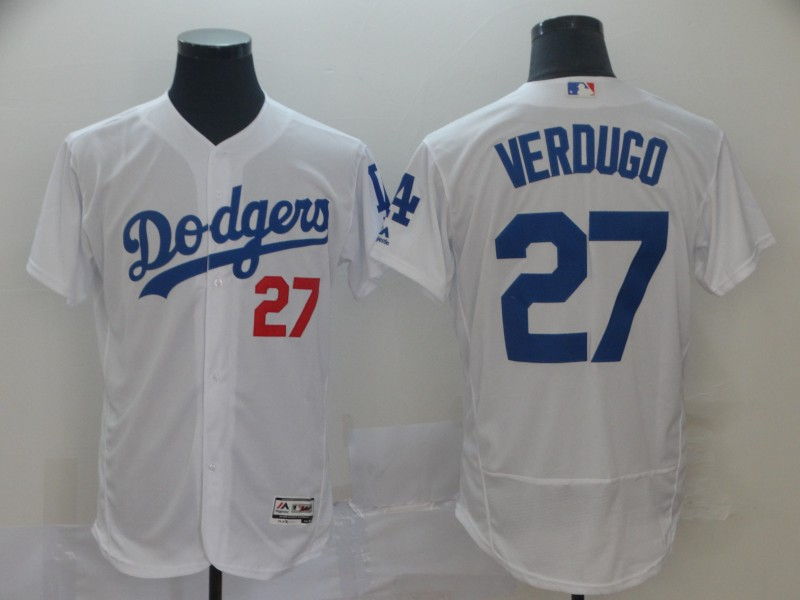 Dodgers 27 Alex Verdugo White Flexbase Jersey
