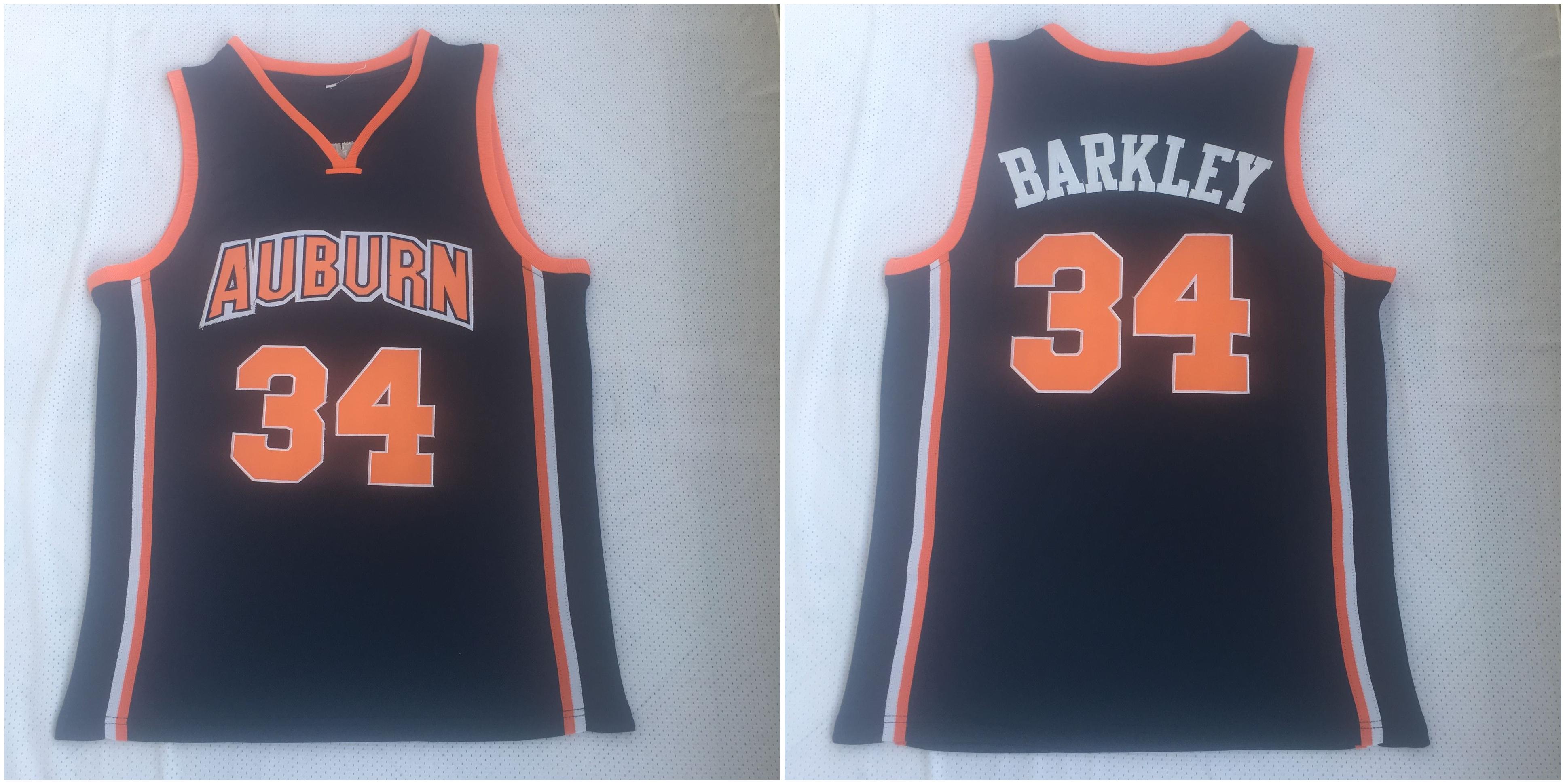 Auburn Tigers 34 Charles Barkley Navy Basketball College Jersey