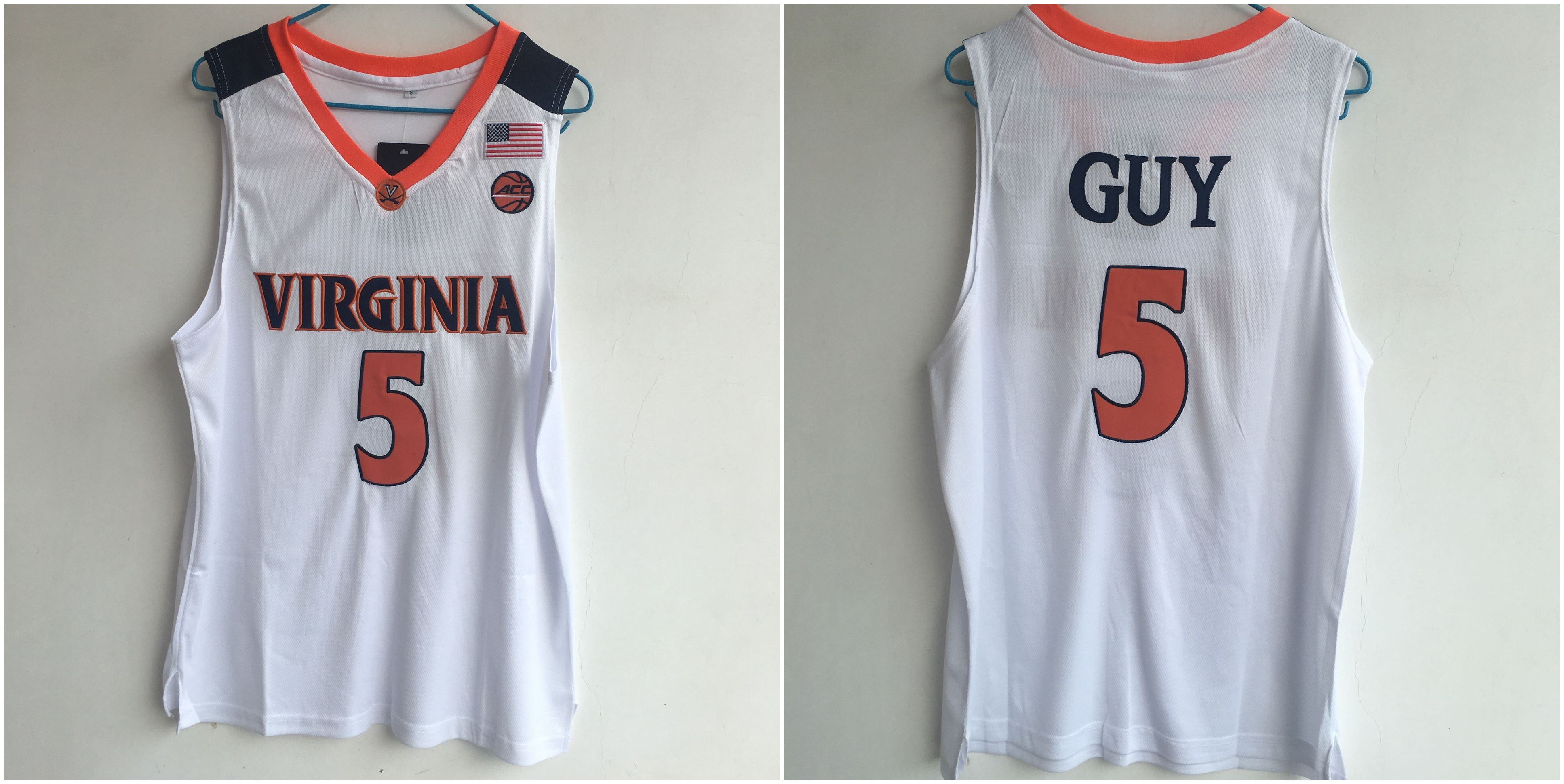 Virginia Cavaliers 5 Kyle Guy White College Basketball Jersey