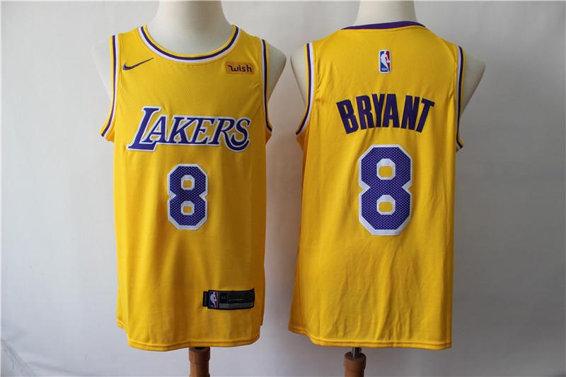 Lakers 8 Kobe Bryant Yellow 2019 Nike Swingman Jersey