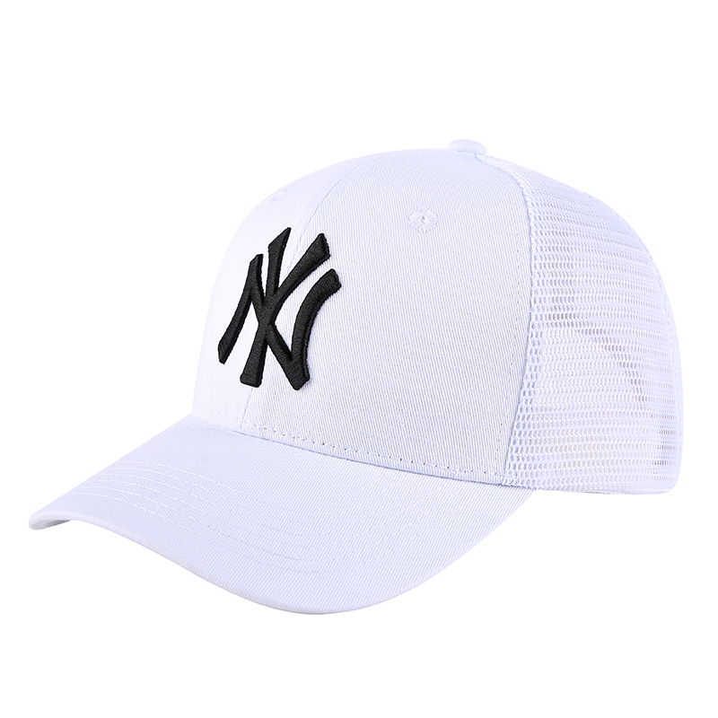 Yankees Team Logo White Peaked Adjustable Hat TX
