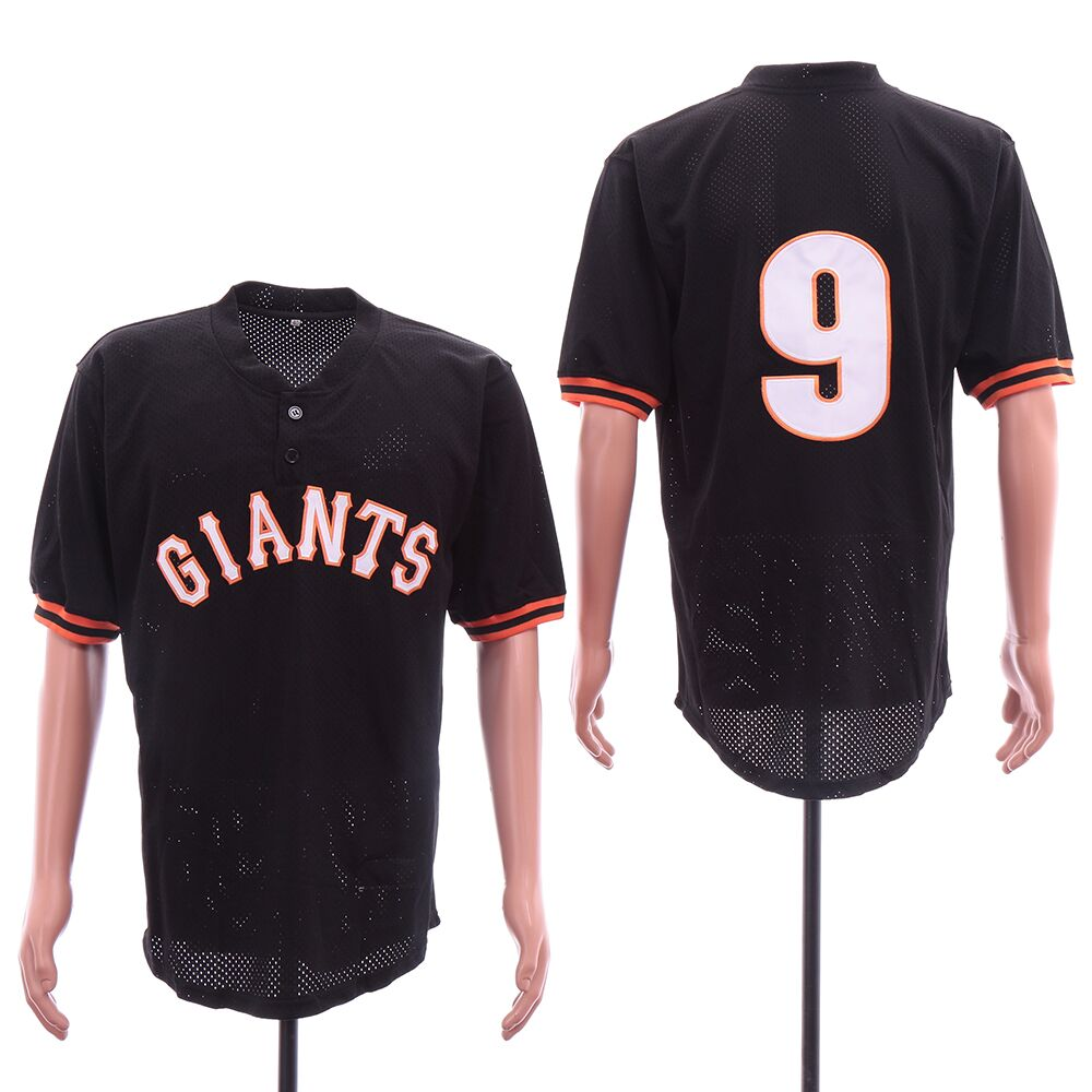 Giants 9 Brandon Belt Black Mesh Jersey