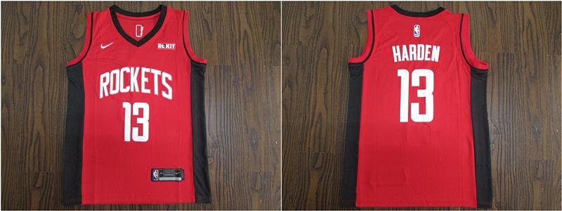 Rockets 13 James Harden Red 2020 Nike Swingman Jersey