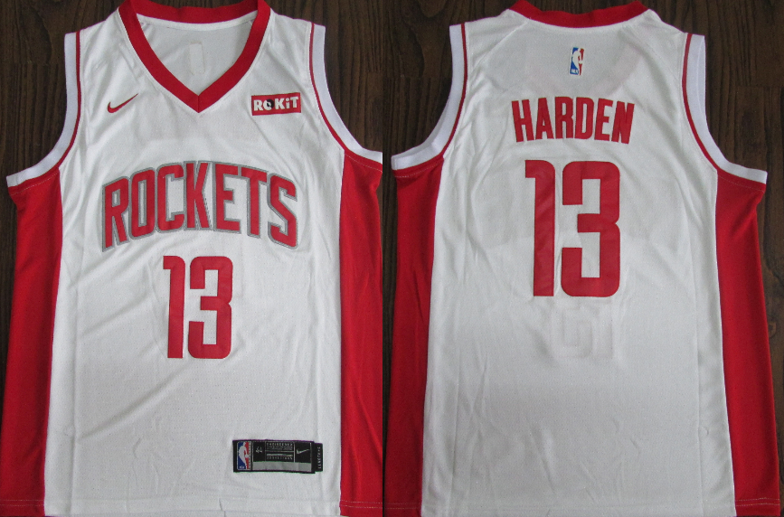 Rockets 13 James Harden White Nike Retro Swingman Jersey