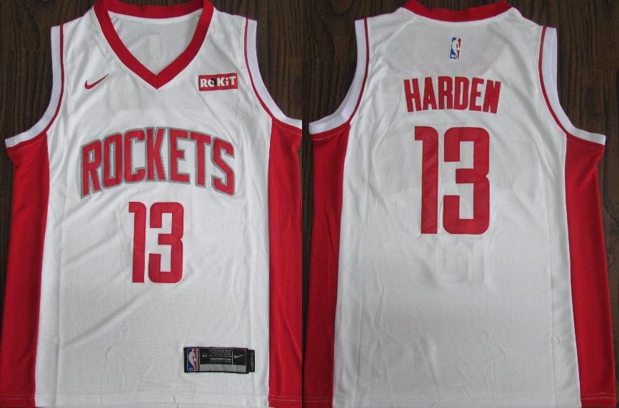 Rockets 13 James Harden White Nike Retro Swingman Jersey